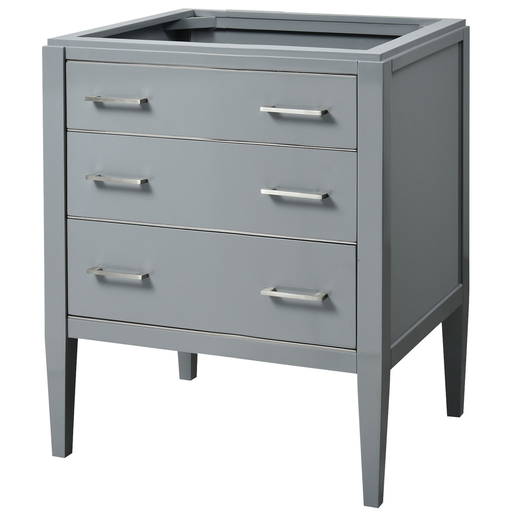 "24"" Contemporary Bathroom Vanity - Grey Finish"