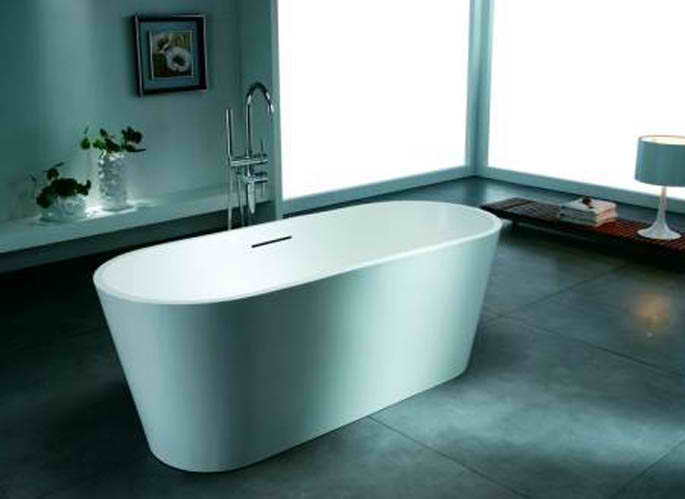 Whirlpools 28 x 67 Artificial Stone Freestanding Bathtub