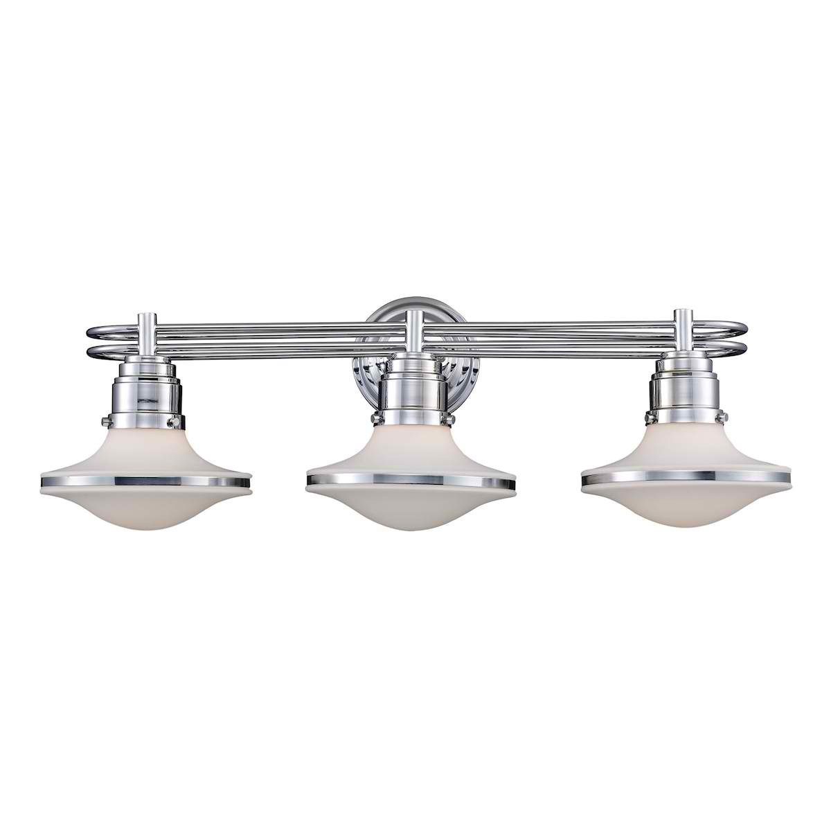 Retrospective 3-Light Bath Bar in Polished Chrome