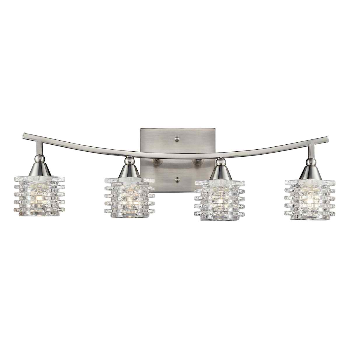 Matrix 4-Light Vanity in Satin Nickel