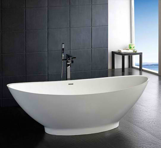 Whirlpools 34 x 73 Artificial Stone Freestanding Bathtub