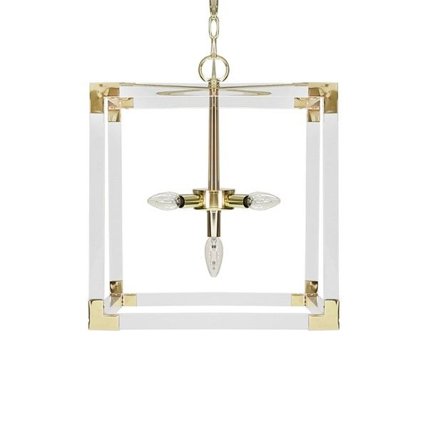 Square Acrylic Pendant with 3 Hardware Option