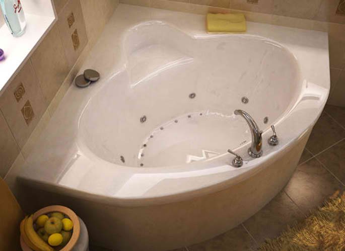 Whirlpools 60 x 60 Corner Soaking Bathtub