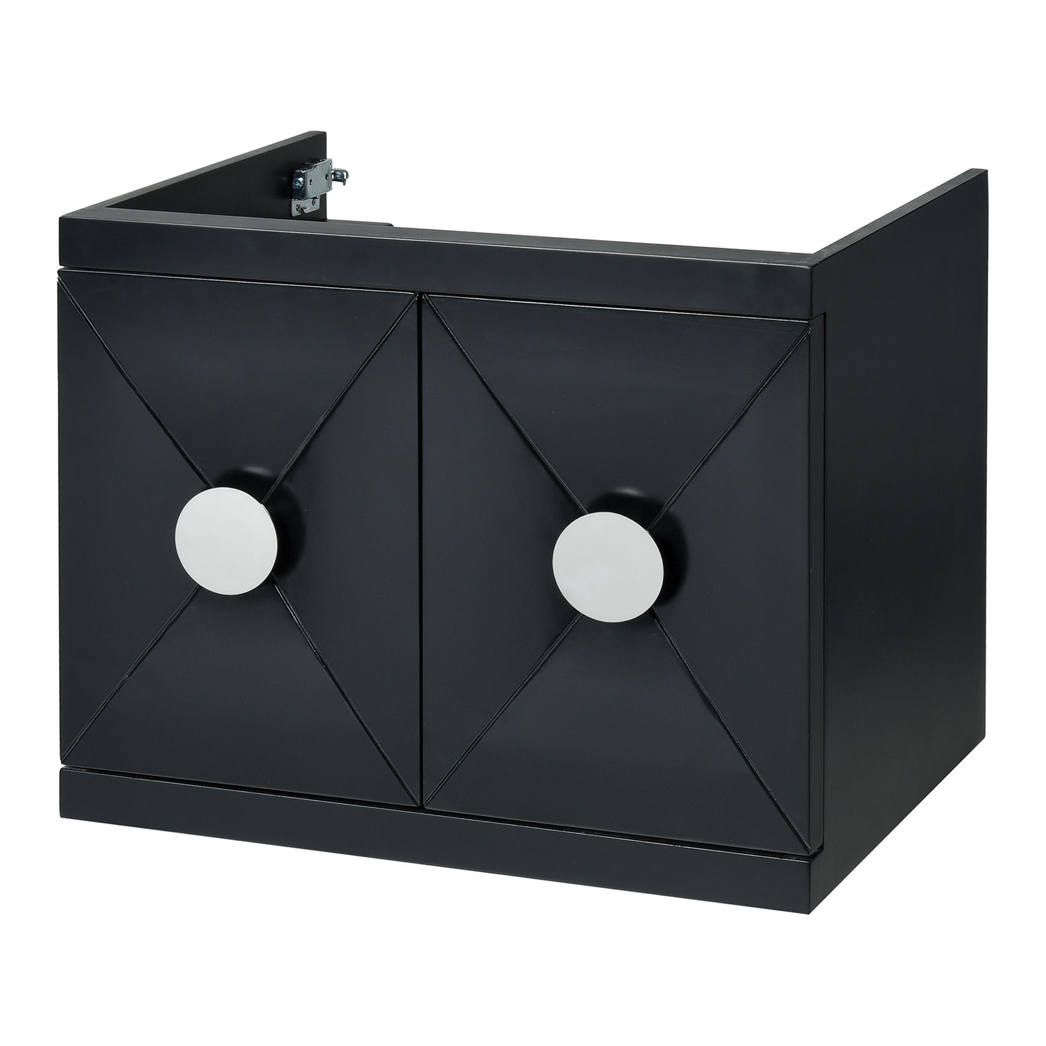 "23.6"" Contemporary Bathroom Vanity - Black Finish"