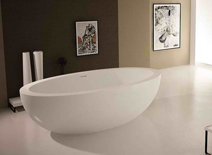 Whirlpools 42 x 75 Artificial Stone Freestanding Bathtub