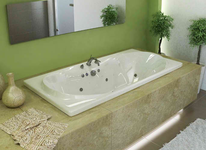 Whirlpools 36 x 72 Rectangular Soaking Bathtub