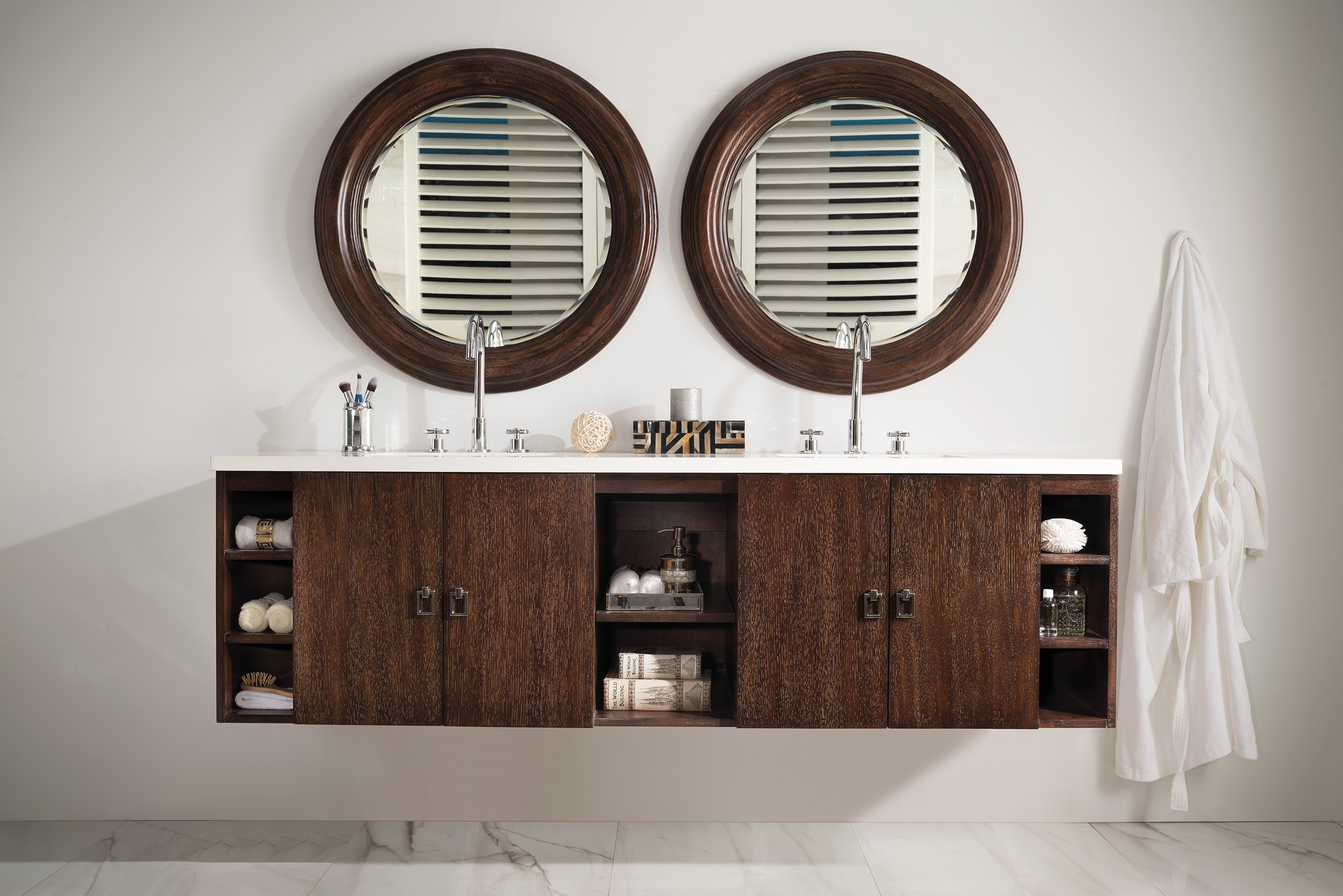 "James Martin Sonoma Collection 72"" Single Vanity, Coffee Oak with Top Options"