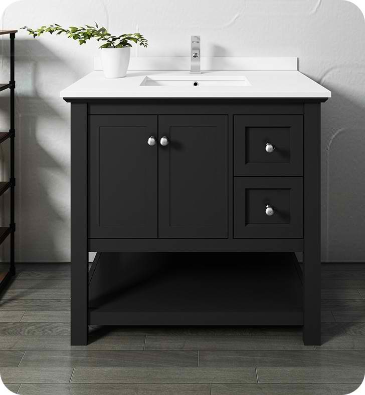 "36"" Traditional Bathroom Cabinet with Top & Sink - Color Options"