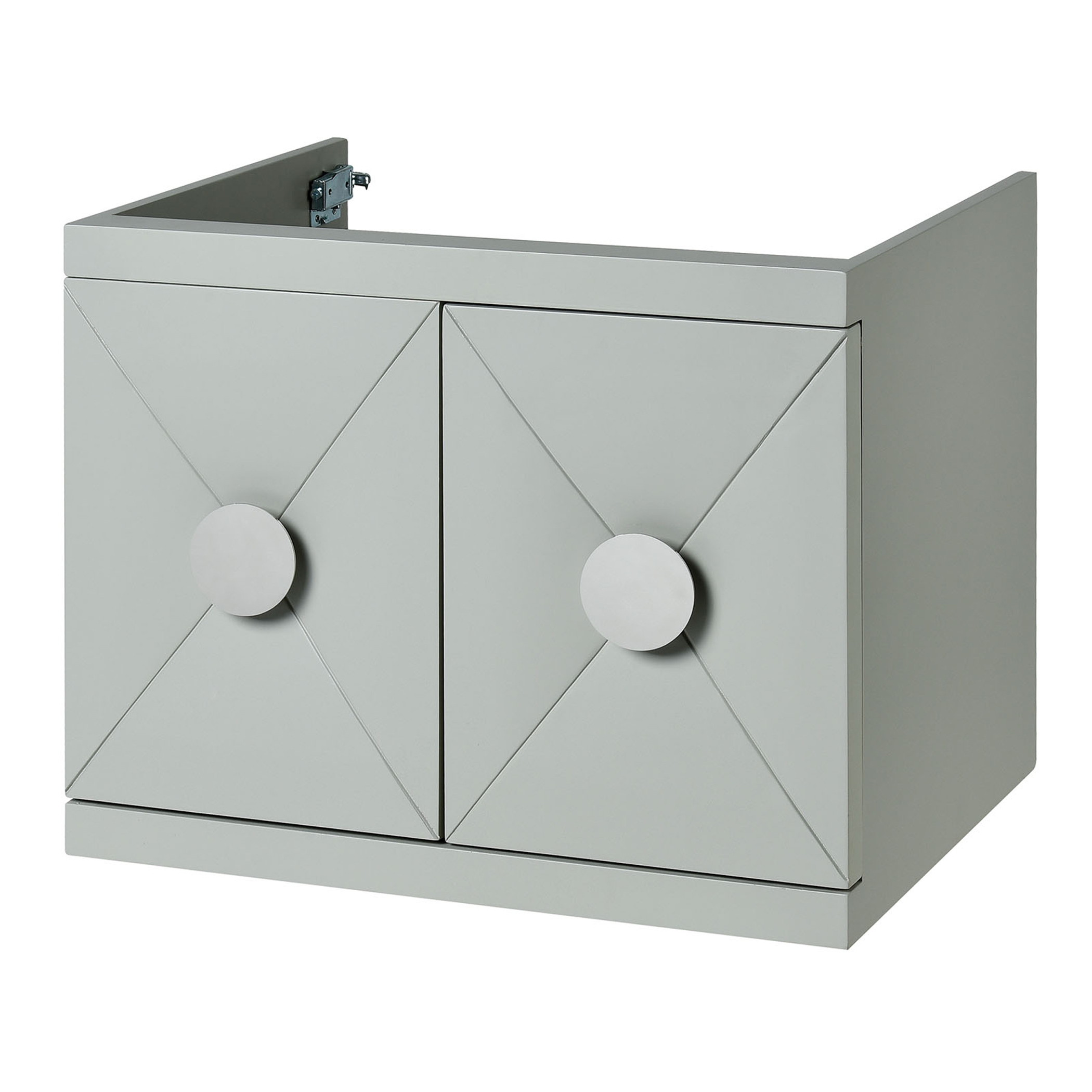 "23.6"" Contemporary Bathroom Vanity - Dove Grey Finish"