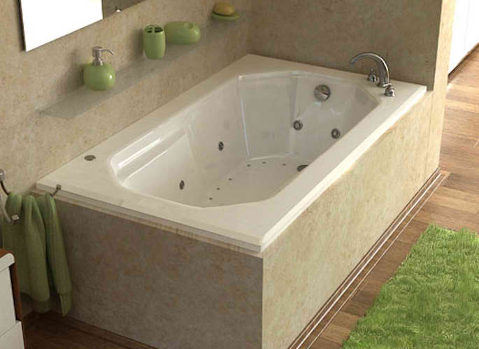 Whirlpools 36 x 60 Rectangular Soaking Bathtub