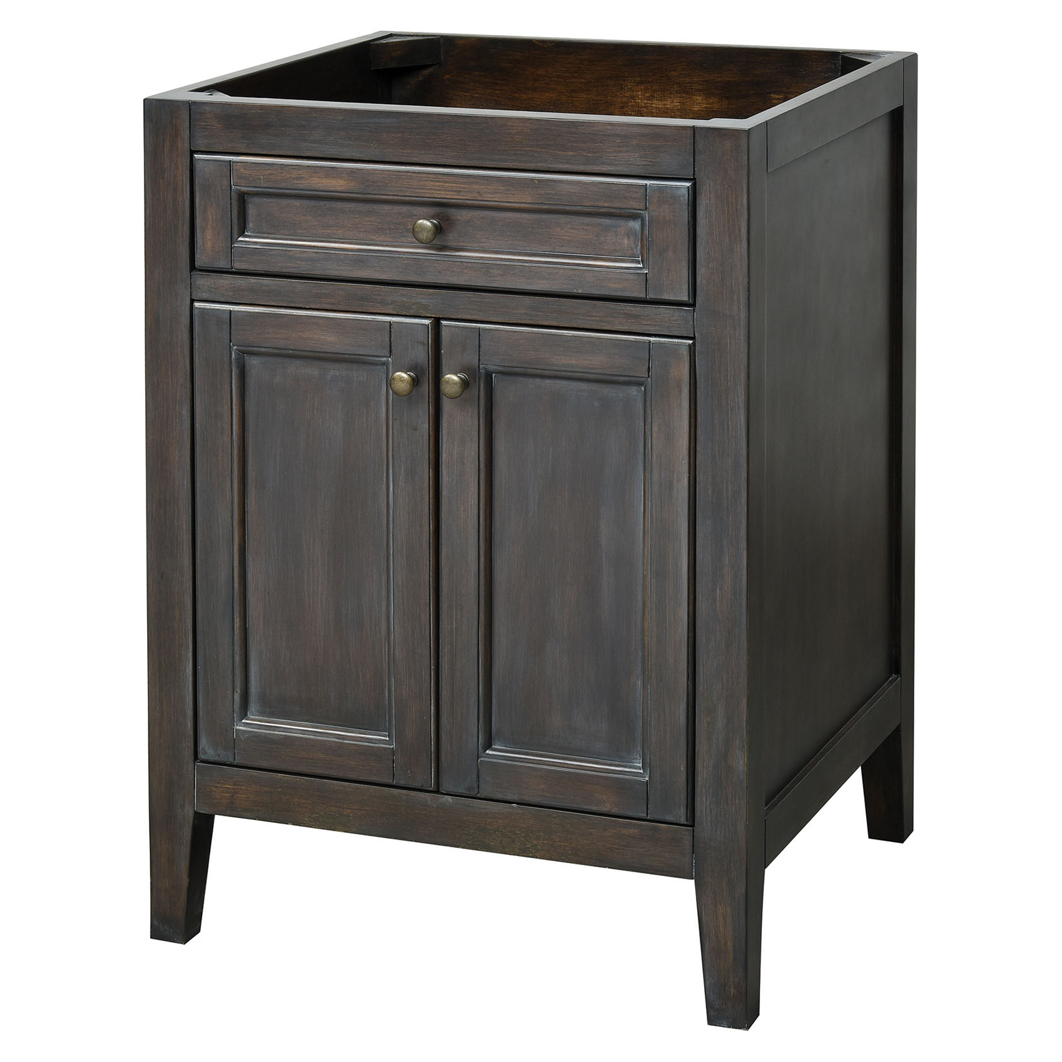 "24"" Modern Bathroom Vanity - Rustic Grey Finish"