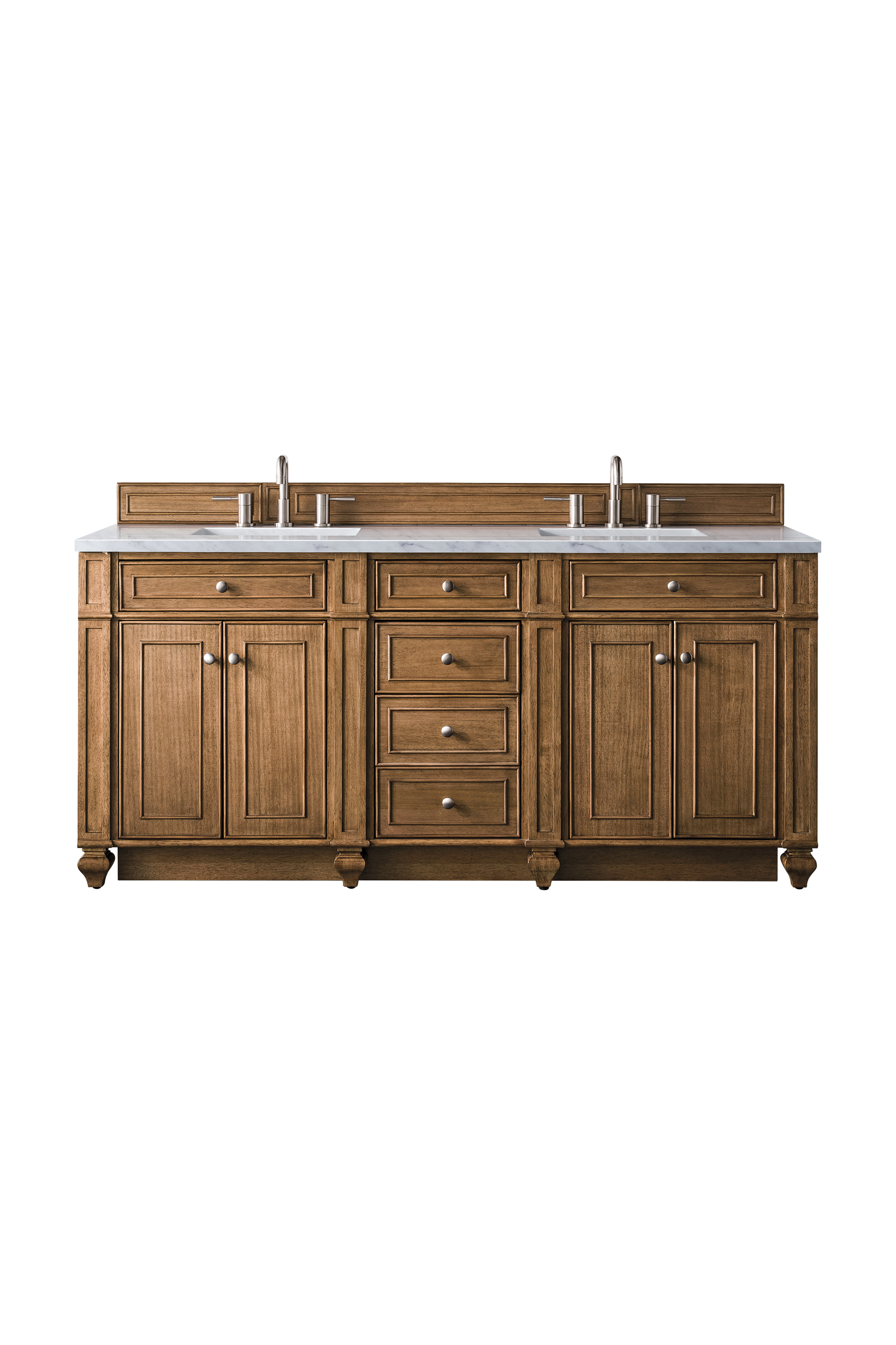 """James Martin Bristol Collection 72"""" Double Vanity, Saddle Brown"""