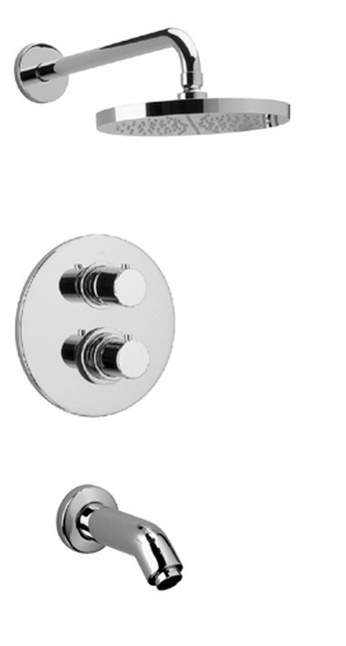 Thermostatic Tub and Shower Set With 2-Way Diverter Volume Control with 2 Color Options