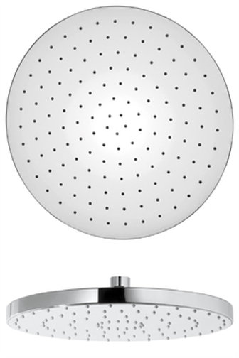 "12"" Round Brass Showerhead Only in Chrome"