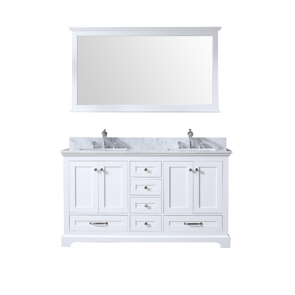"60"" White Vanity Cabinet Only with Countertop and Mirror Options"
