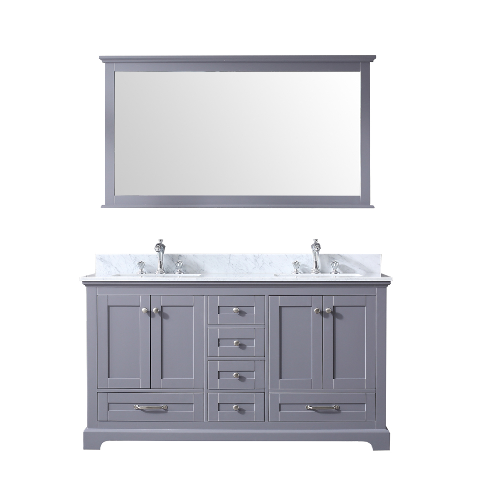 "60"" Dark Grey Vanity Cabinet Only with Mirror and Countertop Options"