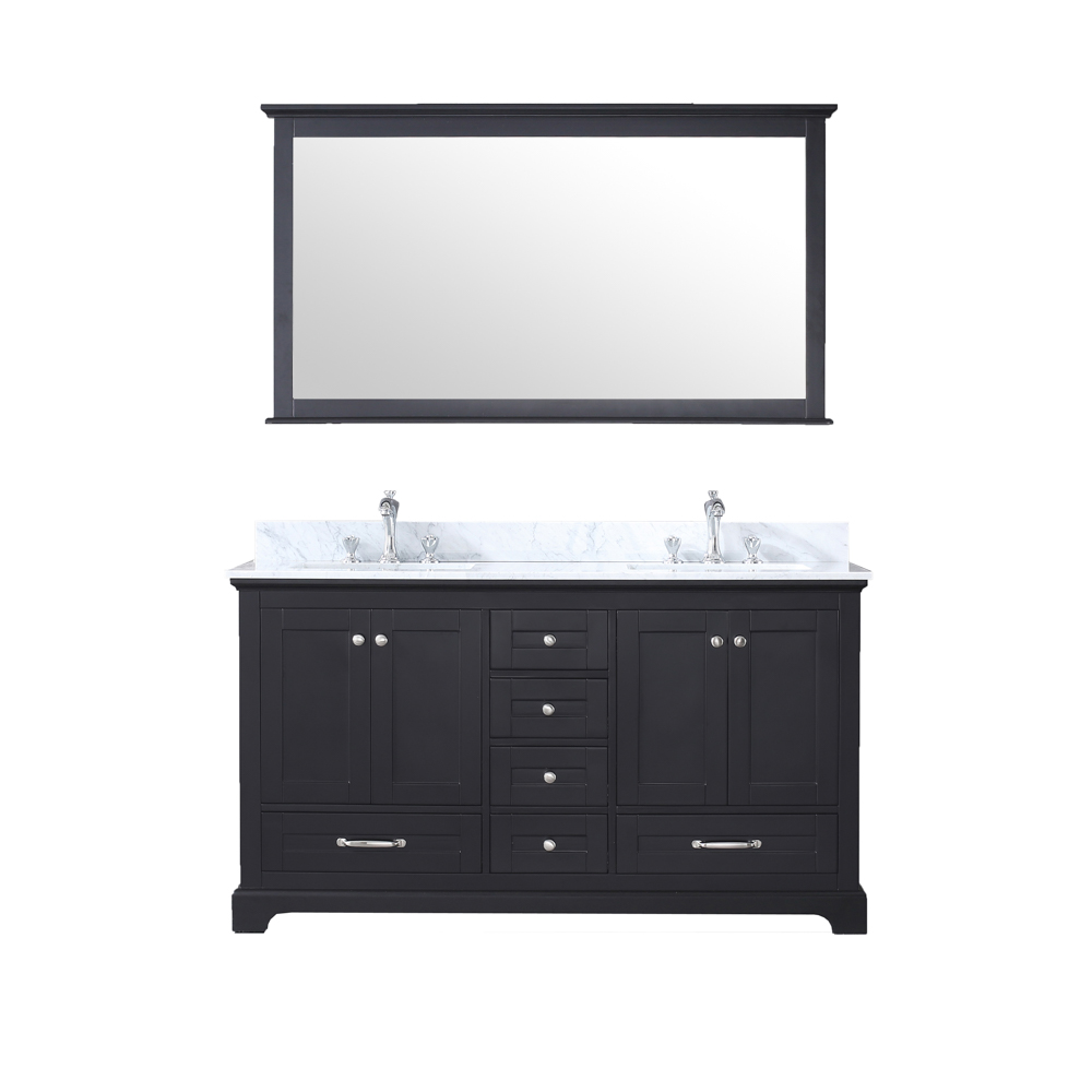 "60"" Espresso Vanity Cabinet Only with Countertop and Mirror Options"