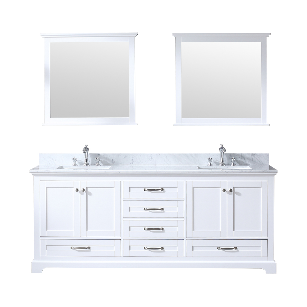 "80"" White Vanity Cabinet Only with Countertop and Mirror Options"
