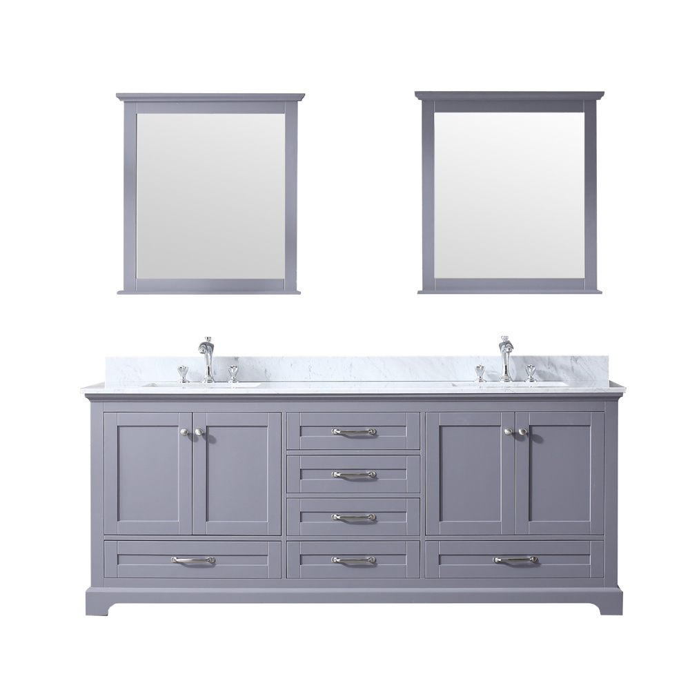 "80"" Dark Grey Vanity Cabinet Only with Mirror and Countertop Option"