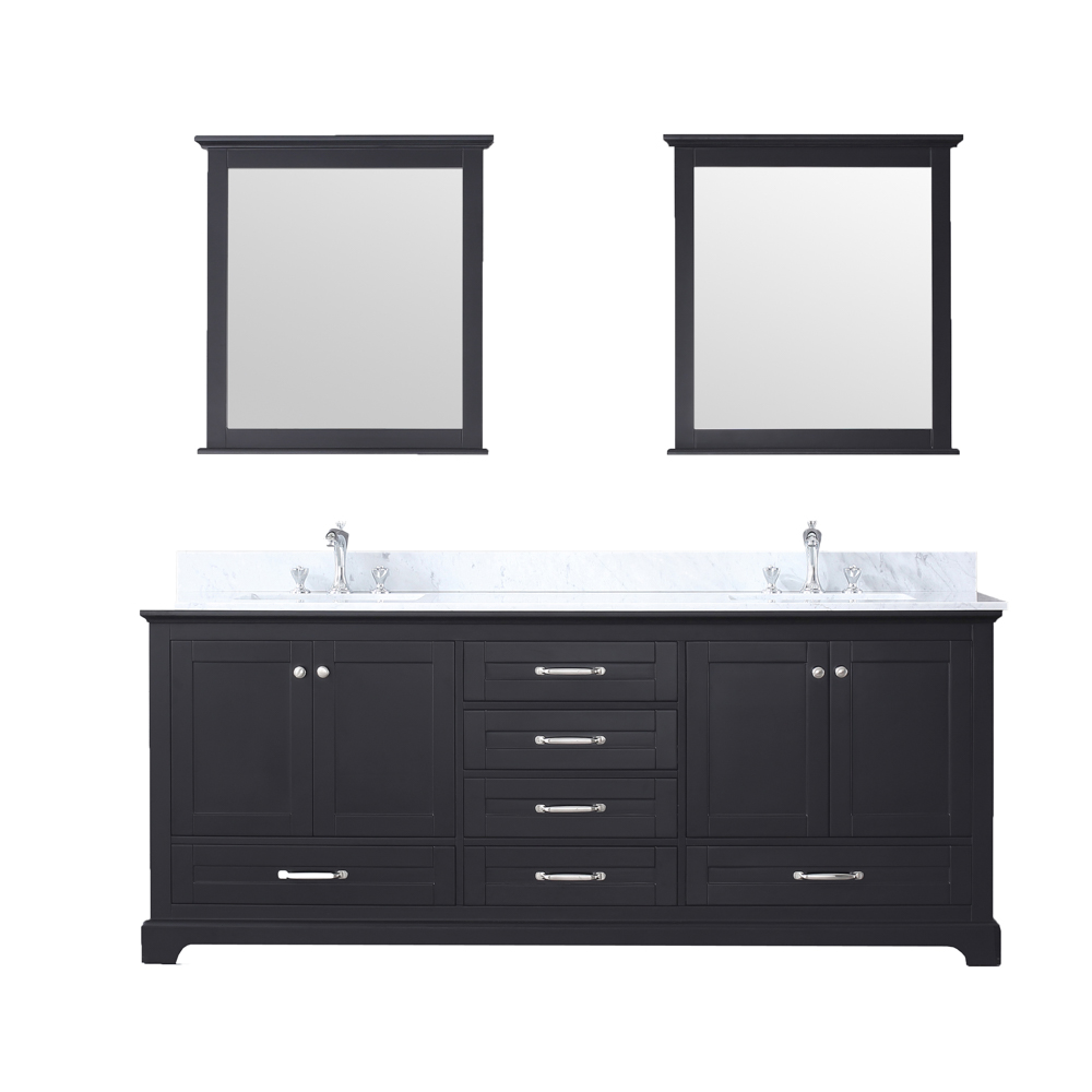 "80"" Espresso Vanity Cabinet Only with Countertop and Mirror Options"