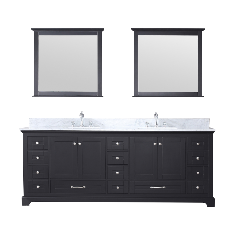 "84"" Espresso Vanity Cabinet Only with Countertop and Mirror Options"