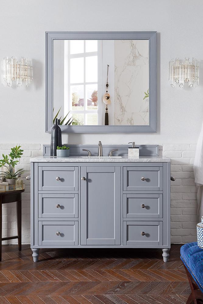 "James Martin Copper Cove Encore Collection 48"" Single Vanity, Silver Gray"