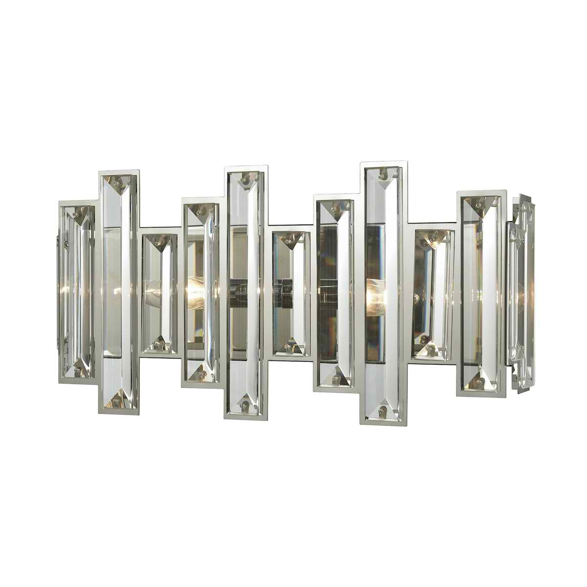 Crystal Heights 2 Light Vanity in Polished Chrome with Clear Crystal