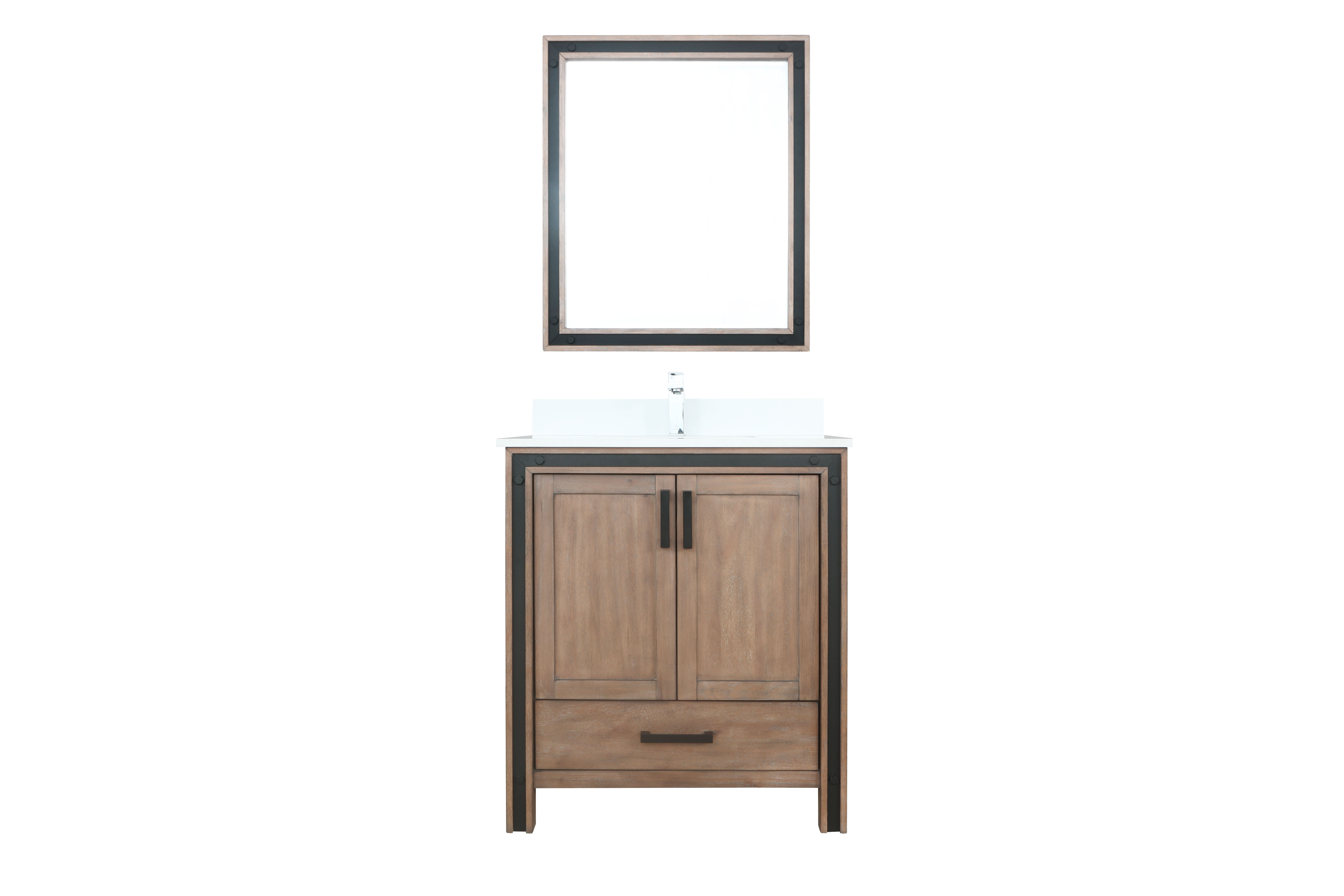 """30"""" Rustic Barnwood Bathroom Vanity Cabinet Only with Countertop and Mirror Options"""