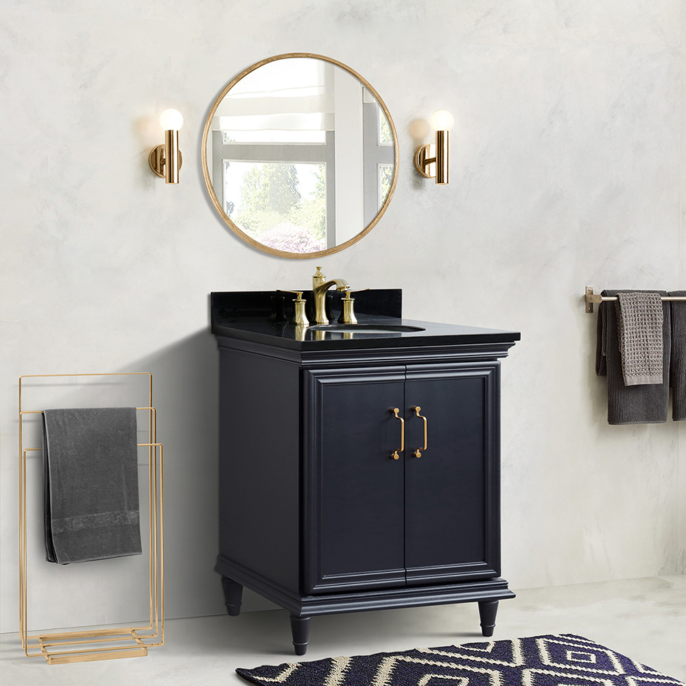"""31"""" Single Vanity in Dark Gray Finish with Countertop and Sink Options"""