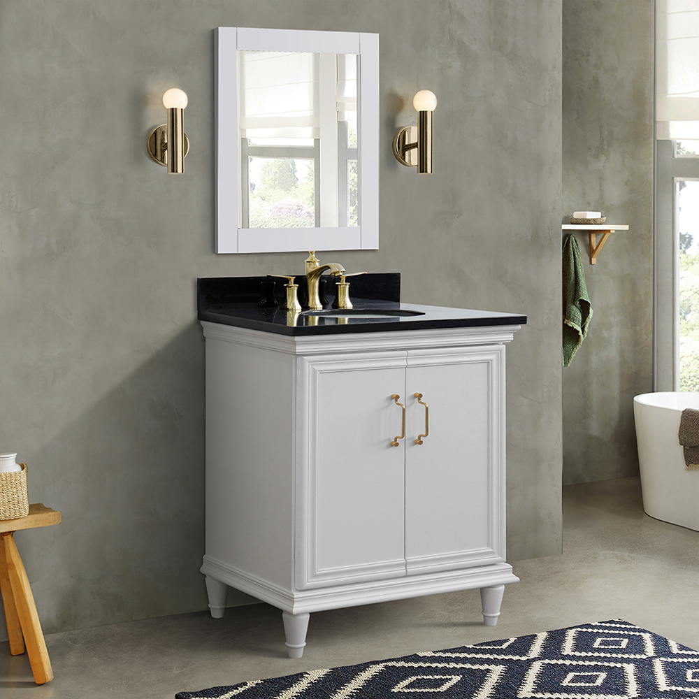 "31"" Single Vanity in White Finish with Countertop and Sink Options"