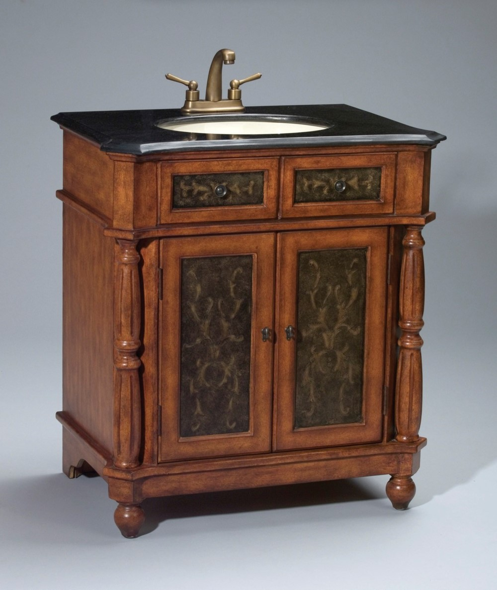 Antique Elements Collection Hand Carved Walnut Vanity Sink, Limited Edition
