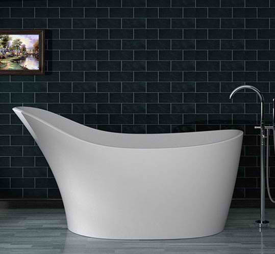Whirlpools 30 x 67 Artificial Stone Freestanding Bathtub
