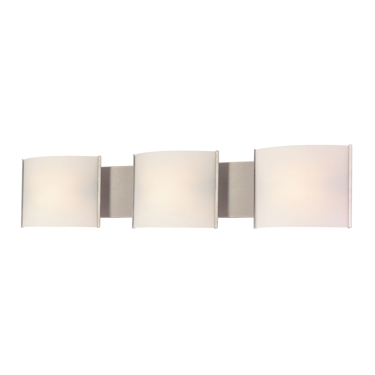 Pannelli Vanity - 3 Light with Lamps. White Opal Glass / SS Finish
