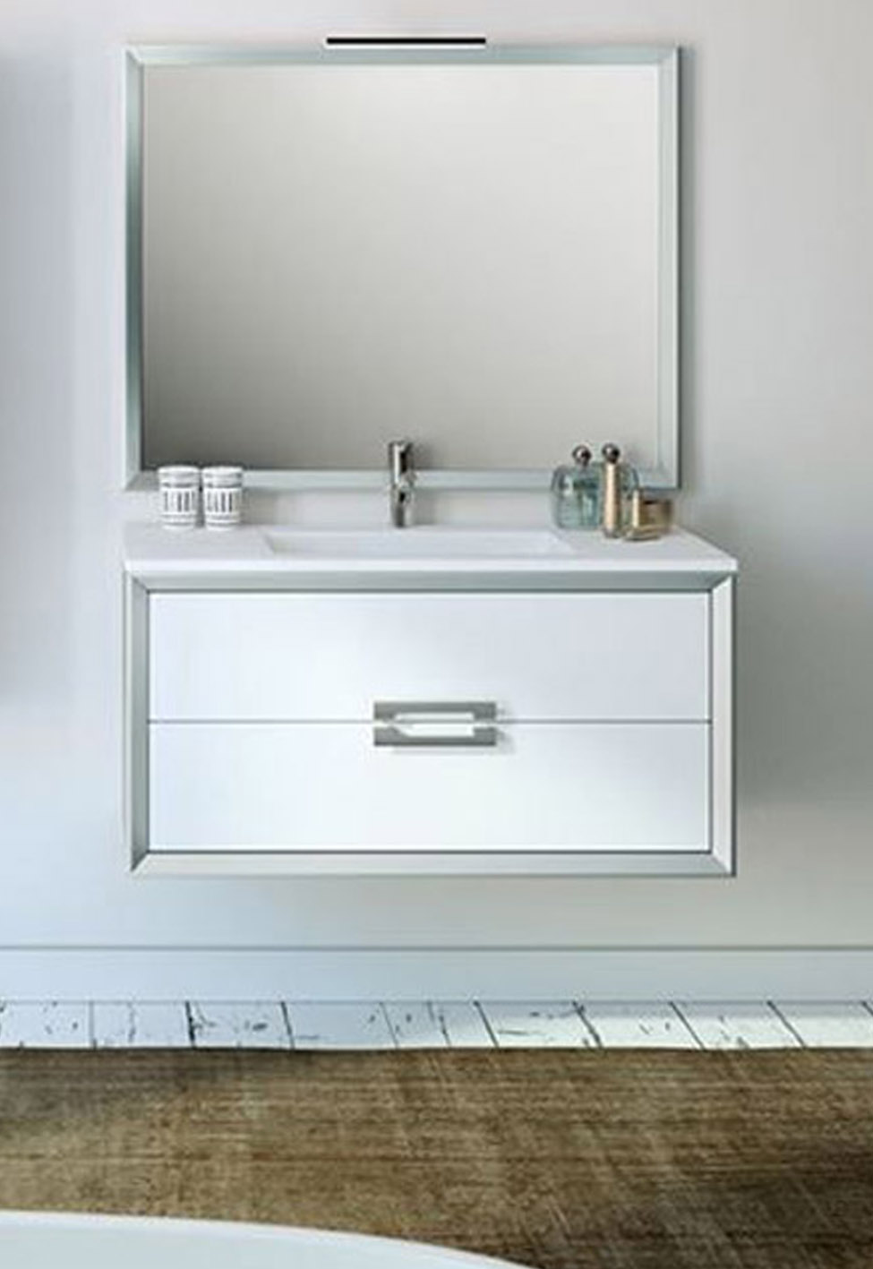 "40"" Single Sink Bathroom Vanity 2 Drawer with Ceramic Sink"