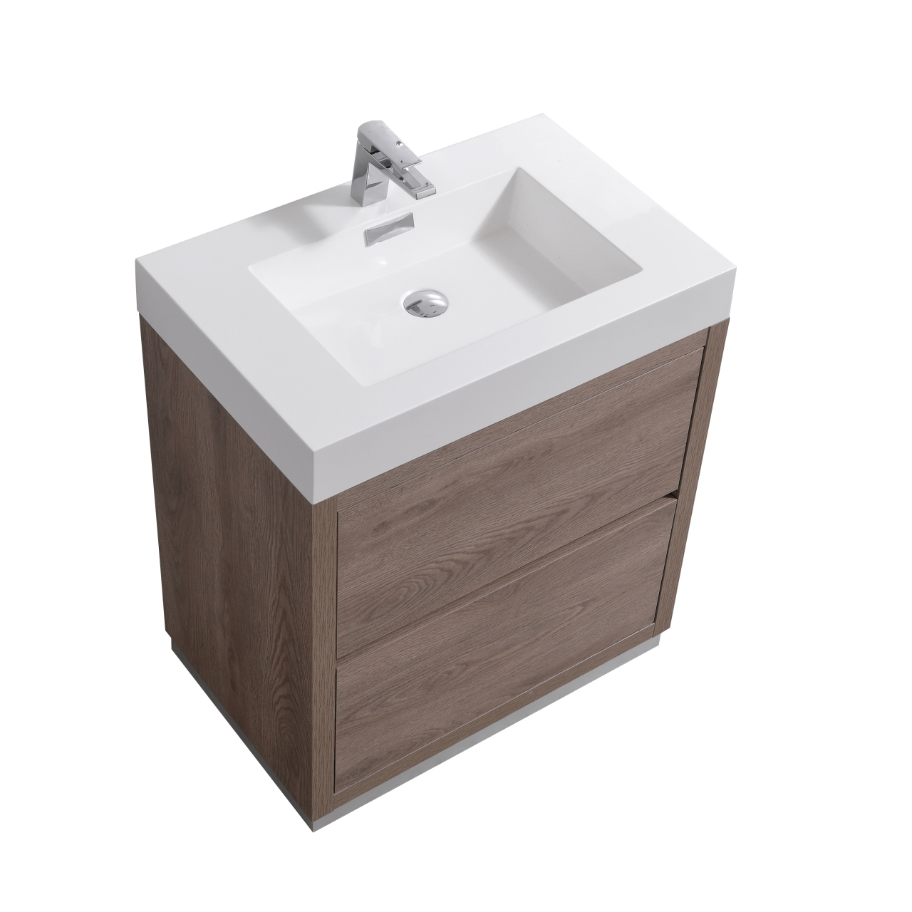 "Modern Lux 30"" Butternut  Free Standing Modern Bathroom Vanity"