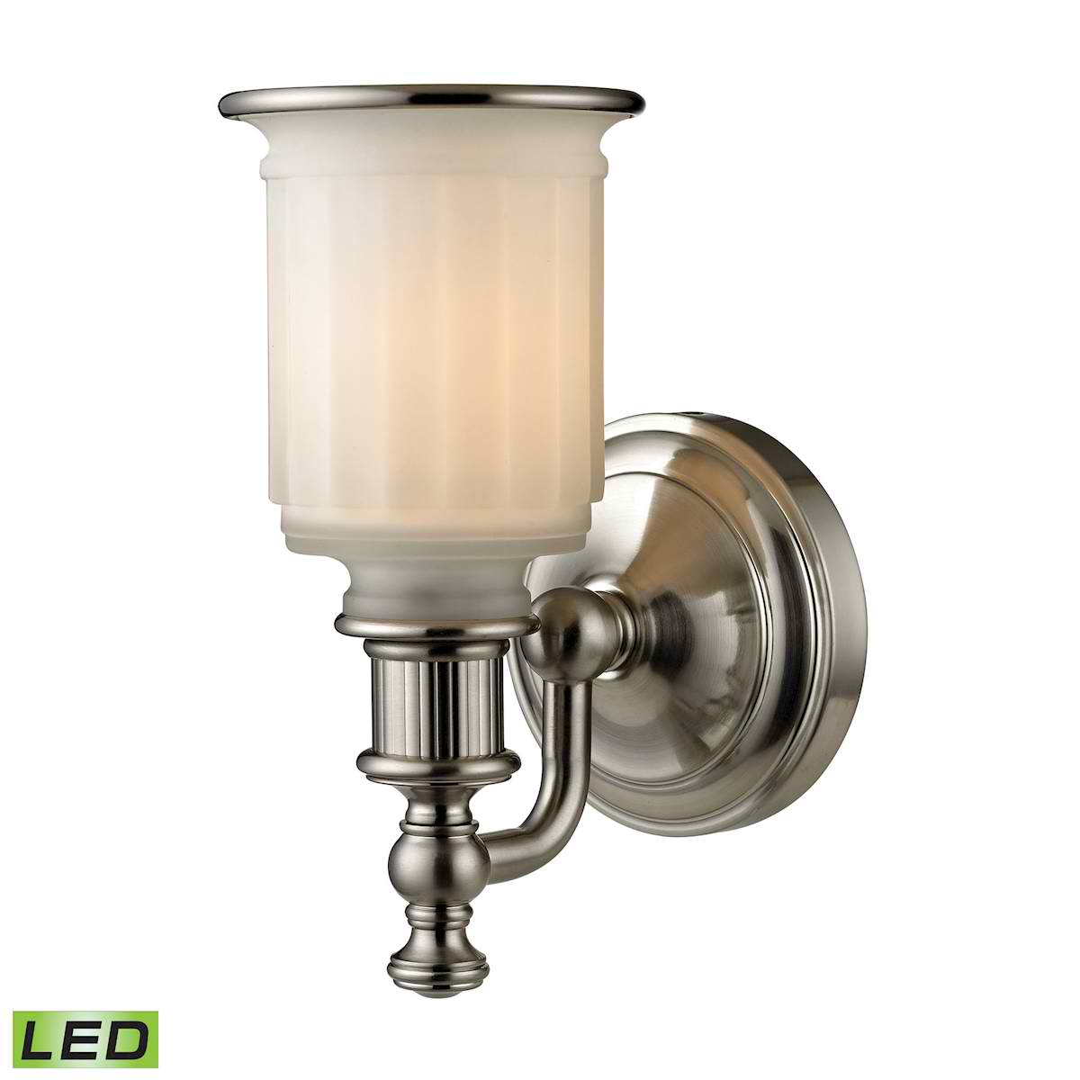 Acadia Collection 1 Light Bath in Brushed Nickel - LED Offering Up To 800 Lumens (60 Watt Equivalent)