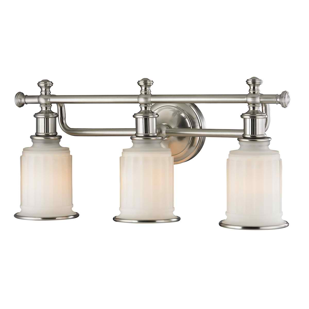 Acadia Collection 3 Light Bath in Brushed Nickel
