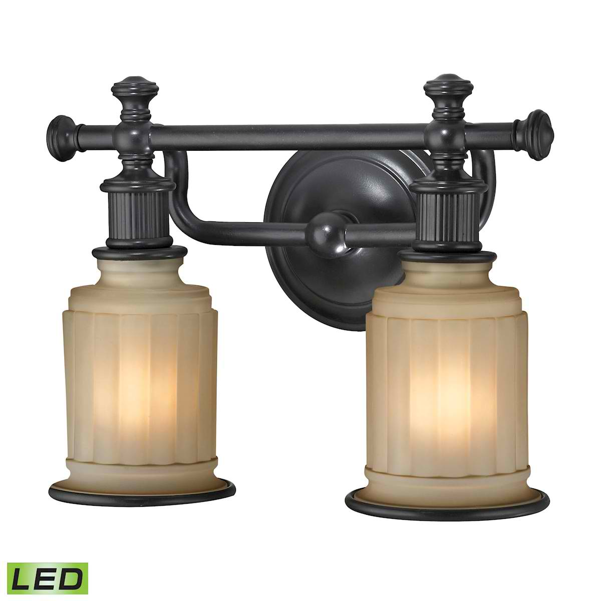 Acadia Collection 2 Light Bath in Oil Rubbed Bronze - LED, 800 Lumens (1600 Lumens Total) with Full