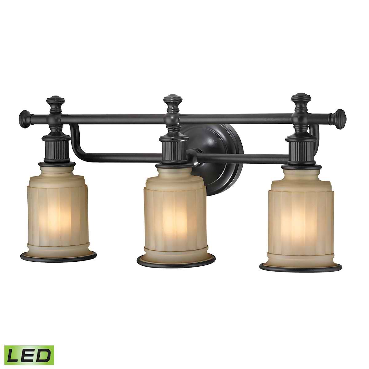 Acadia Collection 3 Light Bath in Oil Rubbed Bronze - LED, 800 Lumens (2400 Lumens Total) with Full