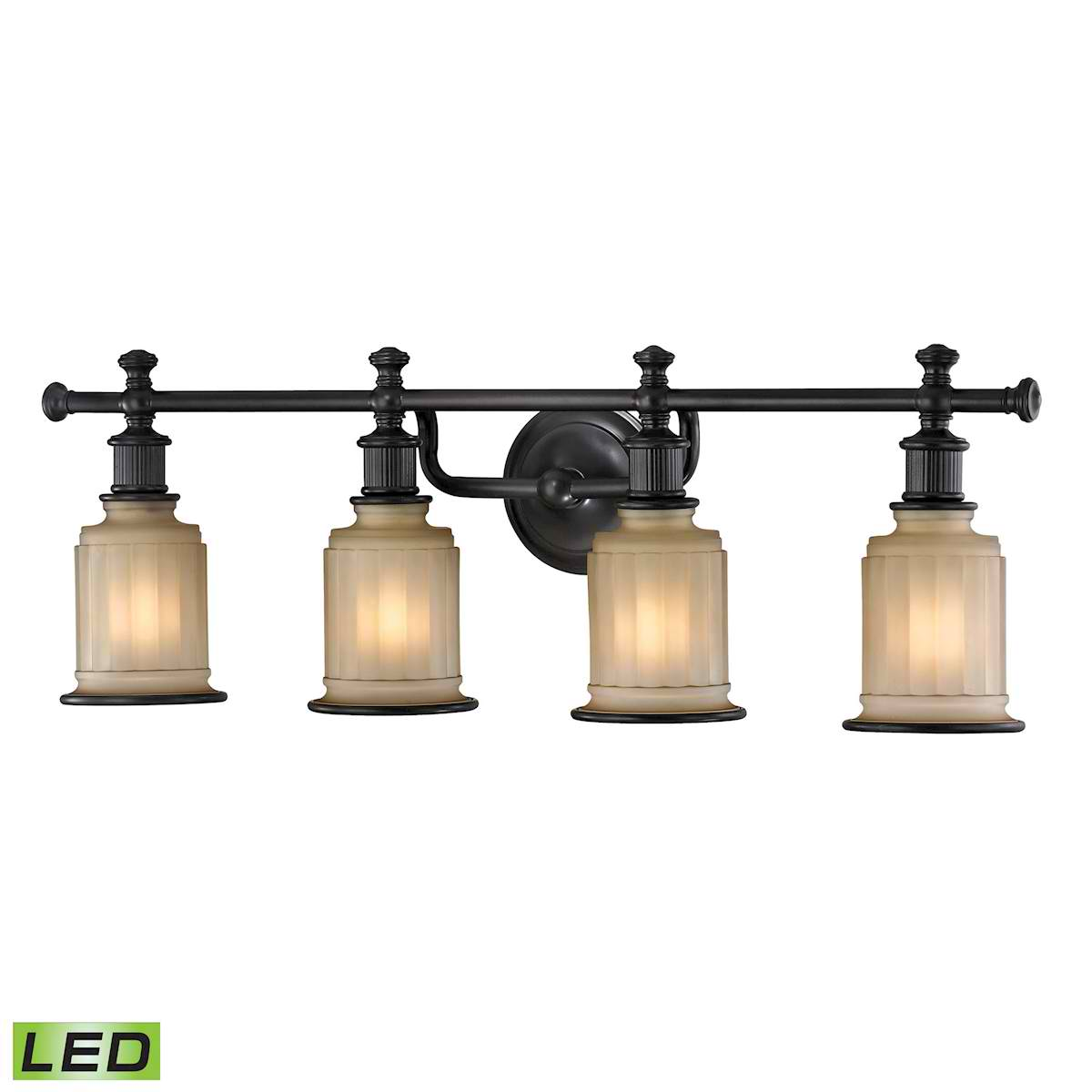 Acadia Collection 4 Light Bath in Oil Rubbed Bronze - LED, 800 Lumens (3200 Lumens Total) with Full