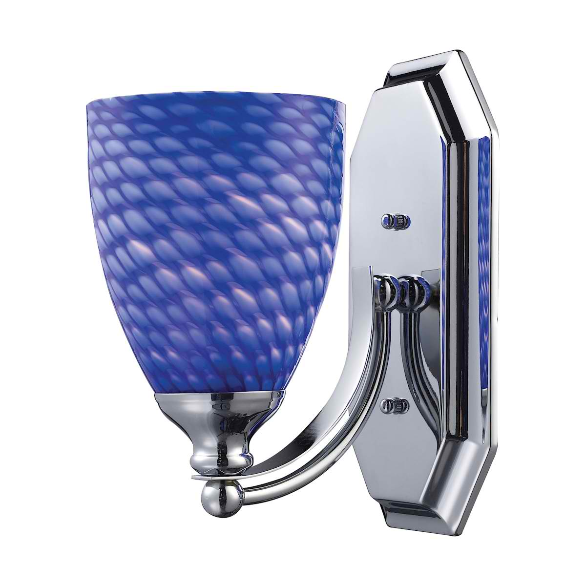 Vanity 1 Light Chrome Finish with Sapphire Glass