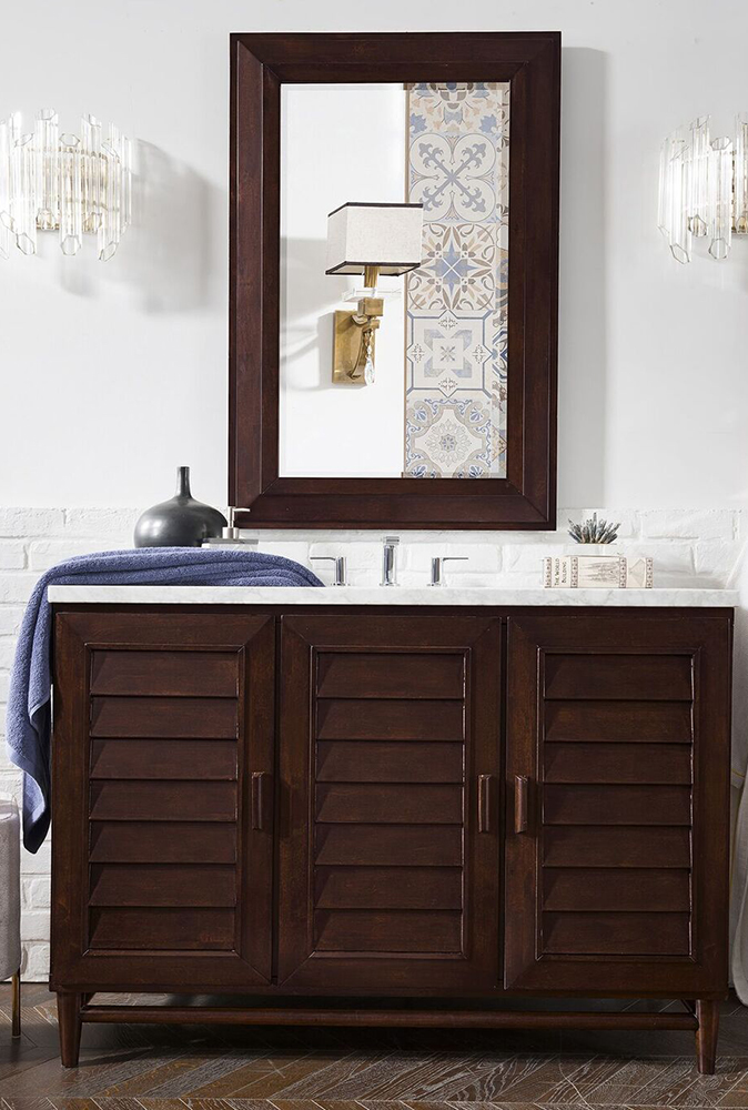 "James Martin Portland Collection 48"" Single Vanity, Burnished Mahogany"