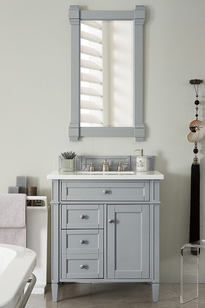 "James Martin Brittany Collection 30"" Single Vanity, Urban Gray"