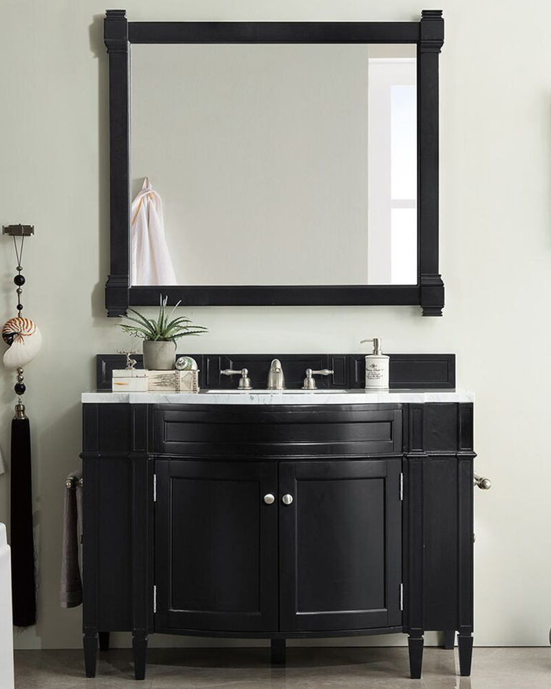 "James Martin Brittany Collection 46"" Single Vanity, Black Onyx"