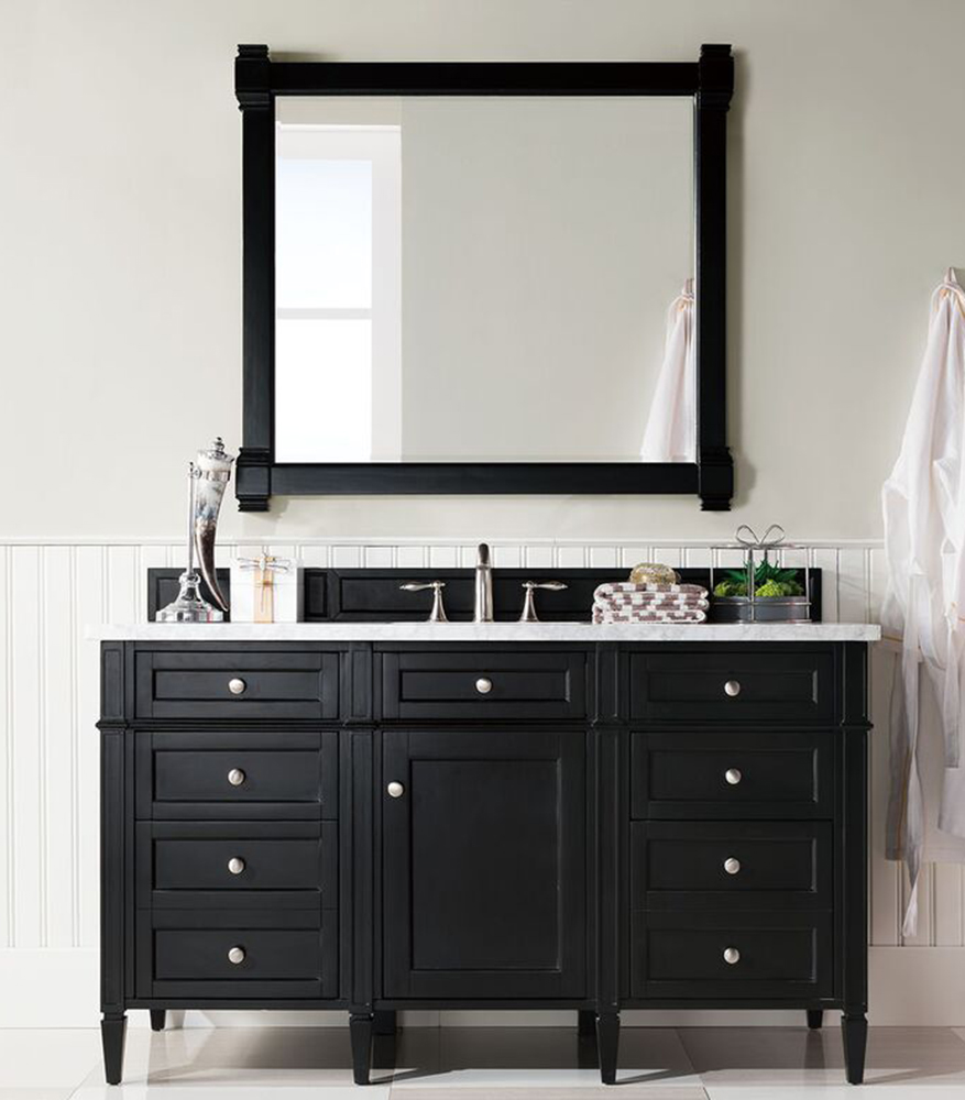 "James Martin Brittany Collection 60"" Single Vanity, Black Onyx"
