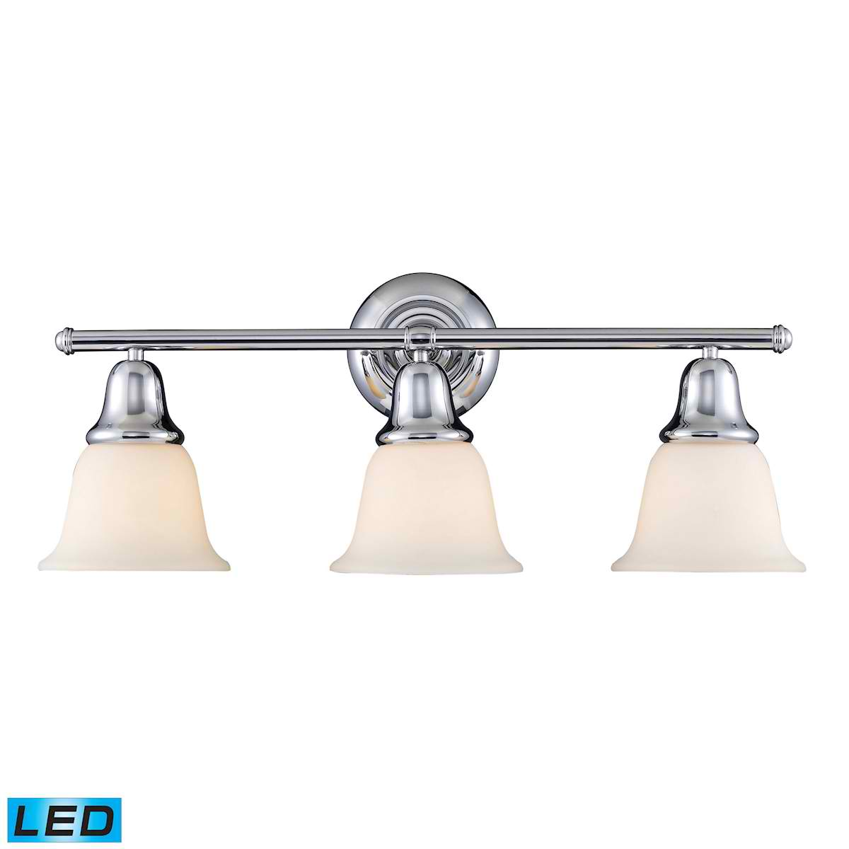 Berwick 3-Light Vanity in Polished Chrome - LED, 800 Lumens (2400 Lumens Total) with Full Scale Dimm