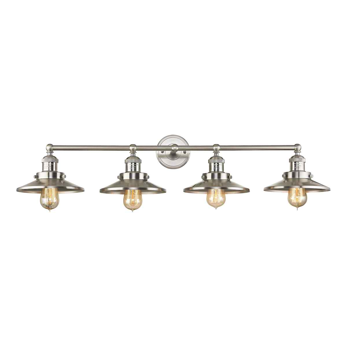 English Pub 4 Light Vanity in Satin Nickel