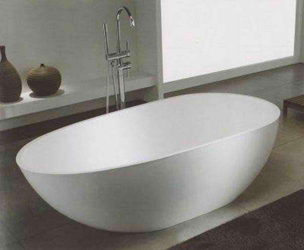 Whirlpools 34 x 67 Artificial Stone Freestanding Bathtub
