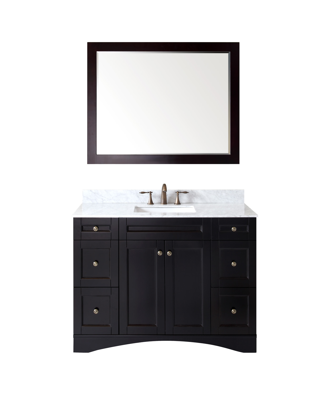 "48"" Single Bath Vanity in Espresso Finish with Top, Sink and Mirror Options"