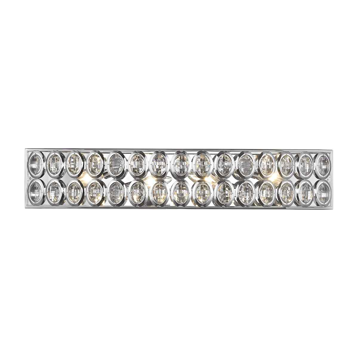 Tessa 4 Light Vanity in Polished Chrome with Clear Crystal